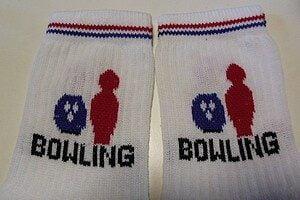 Chaussettes brodées bowling (lot de 3 paires)