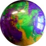 Boule Polyester T-Zone Mardi Gras (Vert/Violet/Or)