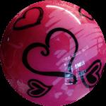 Boule de Spare Fantasy Viz-a-Ball Hearts (coeurs) 1