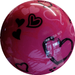 Boule de Spare Fantasy Viz-a-Ball Hearts (coeurs) 2