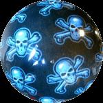 Boule de Spare Fantasy Viz-a-Ball Skull (tête de mort) arrière