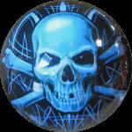Boule de Spare Fantasy Viz-a-Ball Skull (tête de mort) face