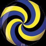 Boule de Spare Fantasy Viz-a-Ball Spiral Bleu/Jaune/Noir