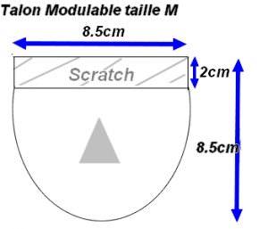 Talon Modulable Universale Taille M