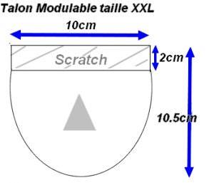 Talon Modulable Universale Taille XXL