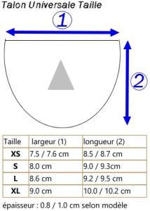 Liste des Tailles Talon Universale