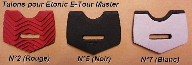 Talon de remplacement pour Etonic E-Tour Master N°7 (Blanc)