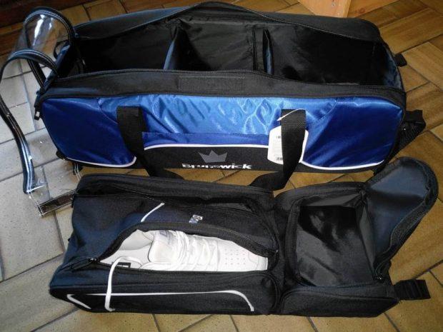 Sac 3 Boules Tote Plus Brunswick Tournament Bleu-Noir (avec compartiment)