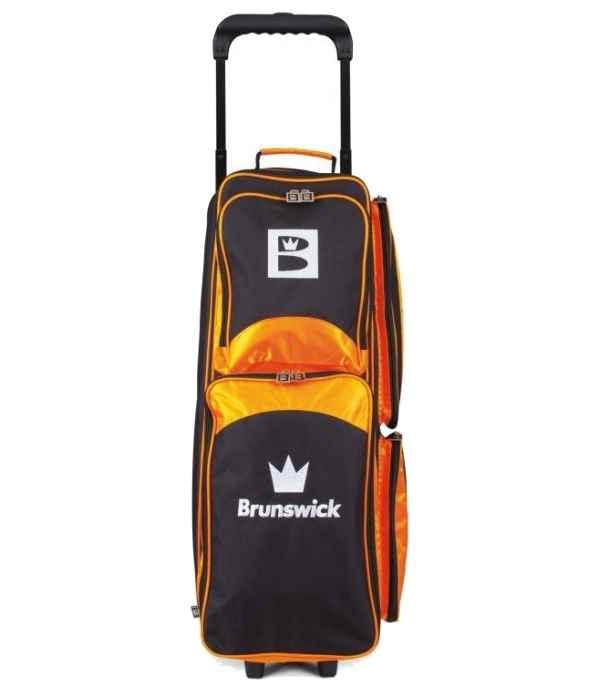 Sac 3 Boules Roulettes Brunswick Edge Orange/Noir