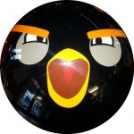 Spare Semi-Transparente Angry Birds Noir recto