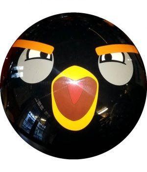 Angry Birds Noir (Semi Transparente)