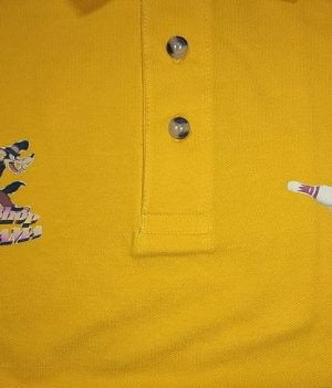 Polo Motif Loup Jaune Orange (Small)