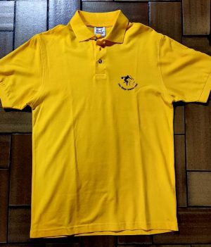 Polo Motif bowling Jaune Orange (Small)