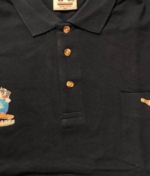 Polo Motif Rominet Bleu Marine avec poche (XX-Large)