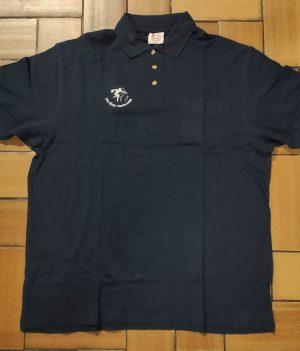 Polo Motif bowling Bleu Marine avec poche (XX-Large)