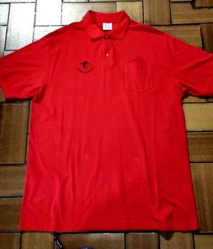 Polo Motif bowling Rouge avec poche (XX-Large)