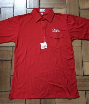Polo-Shirt Columbia Rouge (Medium)